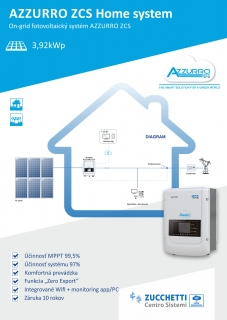 On-grid FVE Azzurro ZCS 3,92kWp