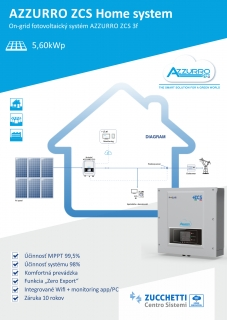 On-grid FVE Azzurro ZCS 5,60kWp 3f